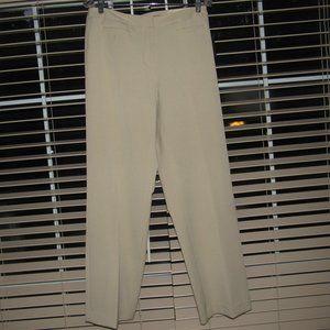 NWT LIZ CLAIBORNE Audra Tan Trouser Pants Size 10